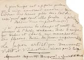 Yelena Polenova. A page from a scratchpad. Autograph. 1880s