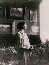 Maria Yakunchikova in her Paris apartment. 1890s