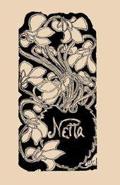 Maria YAKUNCHIKOVA. Netta Peacock's ex libris. 1897