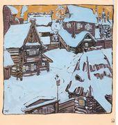 Maria YAKUNCHIKOVA. Small Town in Winter. 1898