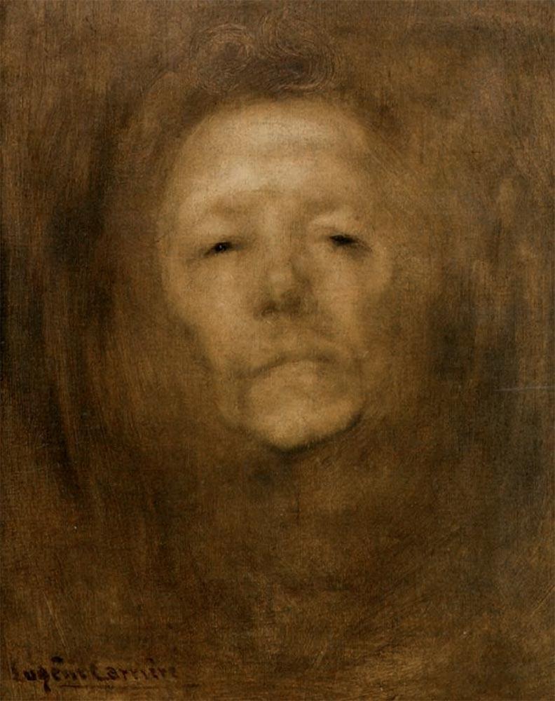 Eugène CARRIÈRE. Self-portrait. Circa 1901
