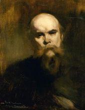 Eugène CARRIÈRE. Portrait of Paul Verlaine. 1890