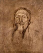 Eugène CARRIÈRE. Portrait of Auguste Rodin. 1896