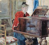 Maria YAKUNCHIKOVA-WEBER. At the Piano. 1880s