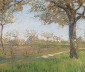 Maria YAKUNCHIKOVA-WEBER. Meudon in Spring. Spring Landscape. 1890s