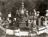 Maria YAKUNCHIKOVA-WEBER. Wooden Toy Town exhibited at the Exposition Universelle in Paris. 1900