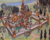 Maria YAKUNCHIKOVA-WEBER. Toy Landscape (Town). 1899