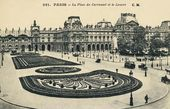 Paris. Place du Carrousel and the Louvre. Postcard. Late 19th – early 20th century