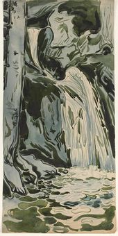 Maria YAKUNCHIKOVA-WEBER. The Waterfall. 1898