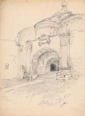 Maria YAKUNCHIKOVA-WEBER. Savvino-Storozhevsky Monastery. Front Entrance. 1895
