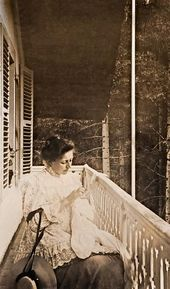 Maria Yakunchikova-Weber on a resort balcony Haute Savoie, Chamonix. 1898