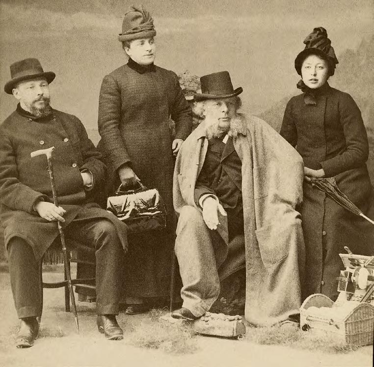 Vasily Yakunchikov with his daughters and son-in-law
