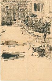 Maria YAKUNCHIKOVA. Biarritz. A sketch from Maria Yakunchikova's letter to Leon Weber. 1889