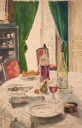 Maria YAKUNCHIKOVA. The Set Table. 1889–1890s