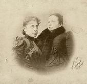 Vera Wulff with Alexandra Golshtein. January 1, 1891