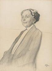Nikolai ULYANOV. Portrait of Zinaida Yakunchikova. 1891–1910