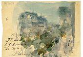 Maria YAKUNCHIKOVA. Avenue de Wagram. Sketch in a letter from Maria Yakunchikova to Elena Polenova. 1894