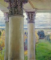 Maria YAKUNCHIKOVA. Vvedenskoye. Colonnade and Park from the Window (Christie's, November 28, 2011: From a window of the Old House, Vvedenskoe). 1894
