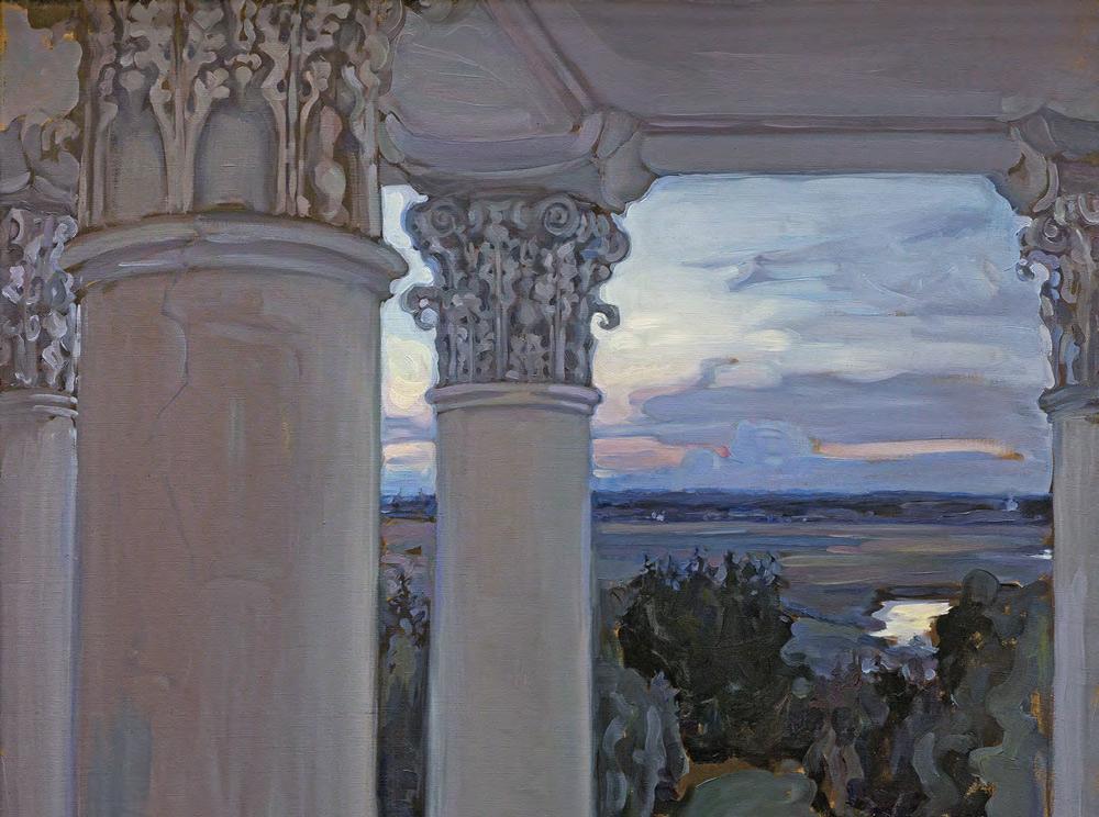 Maria YAKUNCHIKOVA. From the Window of the Old House. Vvedenskoye. 1897