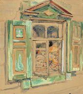 """Maria YAKUNCHIKOVA. Children in the Window (Christie's, November 26, 2012: """"Girls at the Window""""). Circa 1898-1899"""