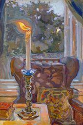 Maria YAKUNCHIKOVA. Candle. Blowing Out. 1897
