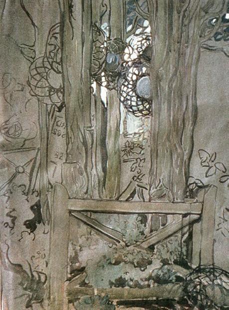Maria YAKUNCHIKOVA. Cypress Sepulchre (Meudon). 1898