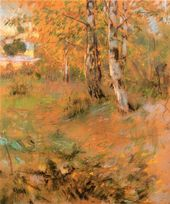 Maria YAKUNCHIKOVA. Birches at the Edge of the Forest. 1893