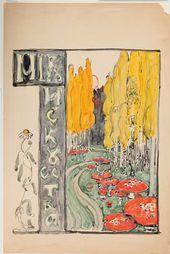 "Maria YAKUNCHIKOVA. ""Mir Iskusstva"" (""World of Art""). Cover design. 1898"