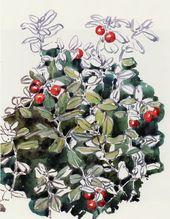 Maria YAKUNCHIKOVA. Cowberries. Sketch. 1898