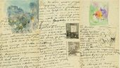 MARIA YAKUNCHIKOVA. A sketch of Avenue de Wagram in Paris and drawings after Odilon Redon. In the letter to Yelena Polenova of May 9-15, 1894