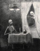 Odilon REDON. The Battle of the Bones. 1881