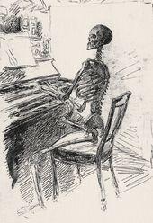 Maria YAKUNCHIKOVA. Death at the Piano. Early 1890s