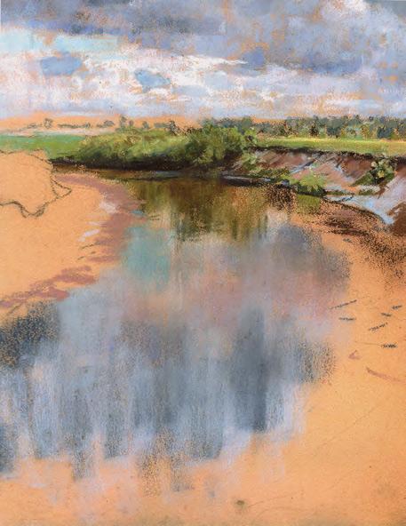Maria YAKUNCHIKOVA. Bend of the River (the Oka) (Christie's, November 28, 2011: On the banks of the Oka river, 1890 [? – O.D.]). Early 1890s