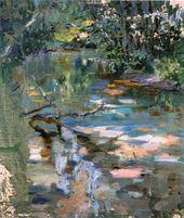 Maria YAKUNCHIKOVA. Woodland Stream. Circa 1893