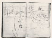 """Maria YAKUNCHIKOVA. Version of the composition """"Paysage artificial"""". Diary. 1896. [Early March]"""
