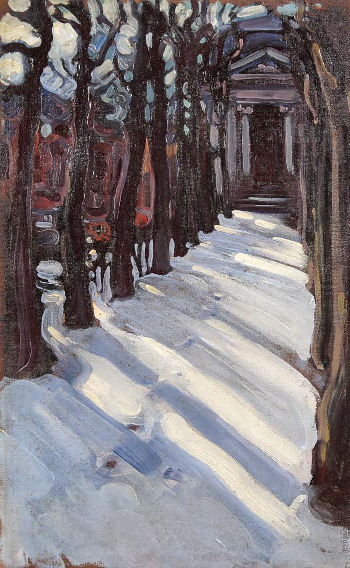 Maria YAKUNCHIKOVA. Winter Avenue (Theatre at Trianon). 1898