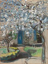 Maria YAKUNCHIKOVA. Flowering Apple Trees. Tree in Bloom. 1899