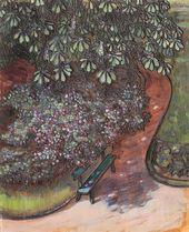 Maria YAKUNCHIKOVA. Avenue with Chestnut Trees [Bench under a Chestnut Tree. Garden in Clamart]. 1899
