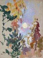Maria YAKUNCHIKOVA. Trees in the Moonlight. 1890s