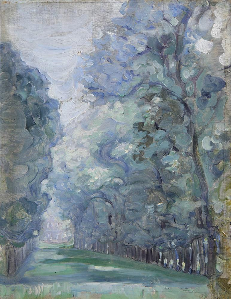 "Maria YAKUNCHIKOVA. Tree Lined Avenue (Christie's, June 3, 2013: ""Allée d'arbres""). 1898"