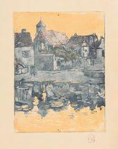 Maria YAKUNCHIKOVA. Brittany. Old Seaside Town. 1892