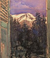 Maria YAKUNCHIKOVA. Window into the Garden (View of Mont Blanc)