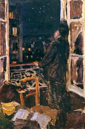 """Maria YAKUNCHIKOVA. Student. Sketch to the painting """"At the Window"""" (not preserved). 1892"""