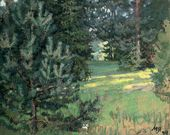 Maria YAKUNCHIKOVA. Lawn. 1899