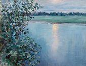 Maria YAKUNCHIKOVA. River at Sunset [Broad River at Sunset]. Early 1890s