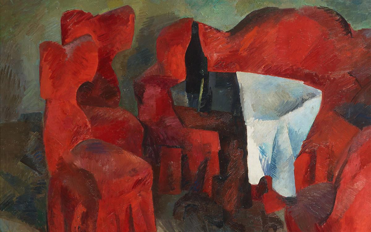 ROBERT FALK. Красная мебель. 1920