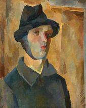 ROBERT FALK. Self-portrait with Bandaged. Ear. 1921
