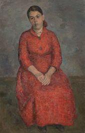 ROBERT FALK. Portrait of Poet Ksenia Nekrasova. 1950