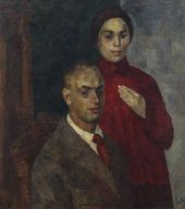 ROBERT FALK. Self-portrait with his Wife (R.V. Idelson). 1923