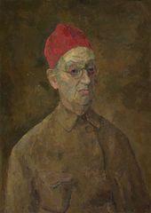 ROBERT FALK. Self-portrait in Red Fez. 1957